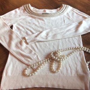 Cashmere & Silk Ralph Lauren Sweater Cream Gold
